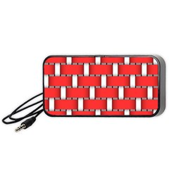 Weave And Knit Pattern Seamless Background Wallpaper Portable Speaker (Black)