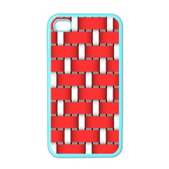 Weave And Knit Pattern Seamless Background Wallpaper Apple iPhone 4 Case (Color)