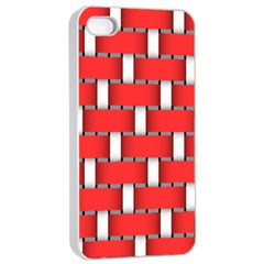 Weave And Knit Pattern Seamless Background Wallpaper Apple iPhone 4/4s Seamless Case (White)