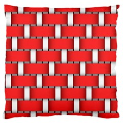 Weave And Knit Pattern Seamless Background Wallpaper Large Cushion Case (One Side)