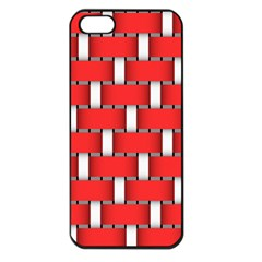 Weave And Knit Pattern Seamless Background Wallpaper Apple iPhone 5 Seamless Case (Black)