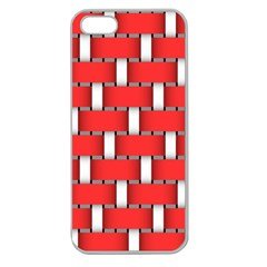 Weave And Knit Pattern Seamless Background Wallpaper Apple Seamless iPhone 5 Case (Clear)