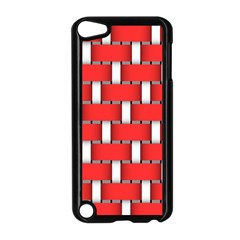 Weave And Knit Pattern Seamless Background Wallpaper Apple Ipod Touch 5 Case (black)