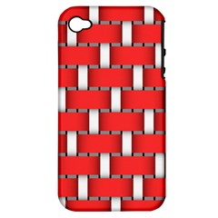 Weave And Knit Pattern Seamless Background Wallpaper Apple iPhone 4/4S Hardshell Case (PC+Silicone)
