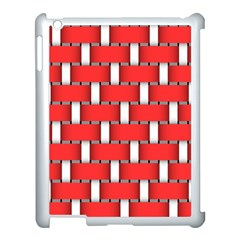Weave And Knit Pattern Seamless Background Wallpaper Apple iPad 3/4 Case (White)