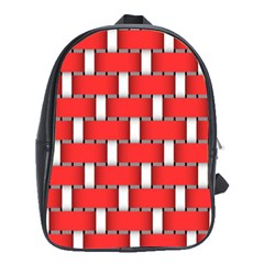 Weave And Knit Pattern Seamless Background Wallpaper School Bags (xl)