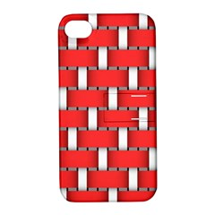 Weave And Knit Pattern Seamless Background Wallpaper Apple iPhone 4/4S Hardshell Case with Stand