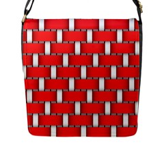 Weave And Knit Pattern Seamless Background Wallpaper Flap Messenger Bag (L)