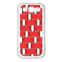 Weave And Knit Pattern Seamless Background Wallpaper Samsung Galaxy S3 Back Case (White)