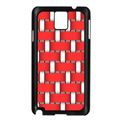 Weave And Knit Pattern Seamless Background Wallpaper Samsung Galaxy Note 3 N9005 Case (Black)