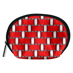 Weave And Knit Pattern Seamless Background Wallpaper Accessory Pouches (Medium)