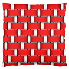 Weave And Knit Pattern Seamless Background Wallpaper Large Flano Cushion Case (One Side)