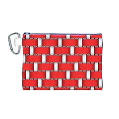 Weave And Knit Pattern Seamless Background Wallpaper Canvas Cosmetic Bag (M)