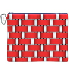 Weave And Knit Pattern Seamless Background Wallpaper Canvas Cosmetic Bag (xxxl)