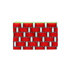 Weave And Knit Pattern Seamless Background Wallpaper Cosmetic Bag (XS)