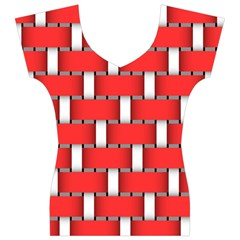 Weave And Knit Pattern Seamless Background Wallpaper Women s V-Neck Cap Sleeve Top