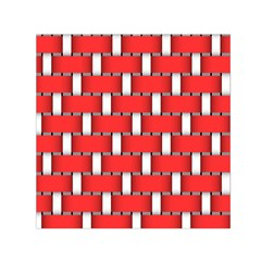 Weave And Knit Pattern Seamless Background Wallpaper Small Satin Scarf (Square)