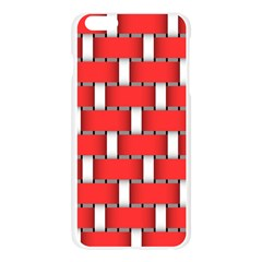 Weave And Knit Pattern Seamless Background Wallpaper Apple Seamless iPhone 6 Plus/6S Plus Case (Transparent)