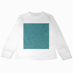 White Noise Snow Blue Kids Long Sleeve T-Shirts