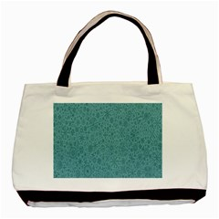 White Noise Snow Blue Basic Tote Bag