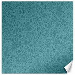 White Noise Snow Blue Canvas 12  x 12