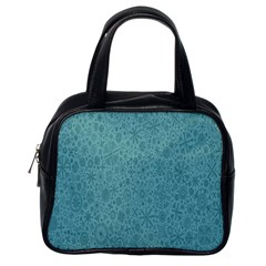 White Noise Snow Blue Classic Handbags (One Side)