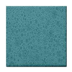 White Noise Snow Blue Face Towel