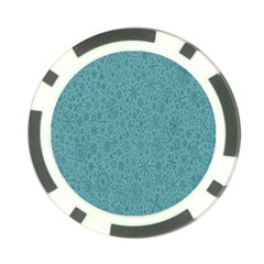 White Noise Snow Blue Poker Chip Card Guard (10 pack)