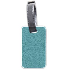 White Noise Snow Blue Luggage Tags (One Side)