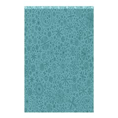White Noise Snow Blue Shower Curtain 48  x 72  (Small)