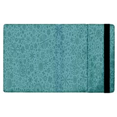 White Noise Snow Blue Apple iPad 3/4 Flip Case
