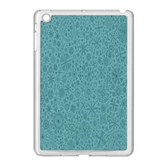 White Noise Snow Blue Apple iPad Mini Case (White)