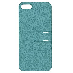 White Noise Snow Blue Apple iPhone 5 Hardshell Case with Stand