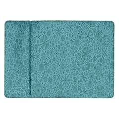 White Noise Snow Blue Samsung Galaxy Tab 10.1  P7500 Flip Case