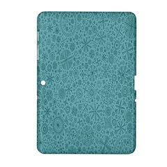 White Noise Snow Blue Samsung Galaxy Tab 2 (10.1 ) P5100 Hardshell Case