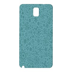 White Noise Snow Blue Samsung Galaxy Note 3 N9005 Hardshell Back Case