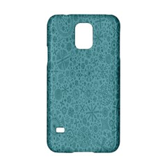 White Noise Snow Blue Samsung Galaxy S5 Hardshell Case