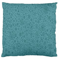 White Noise Snow Blue Large Flano Cushion Case (Two Sides)