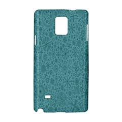 White Noise Snow Blue Samsung Galaxy Note 4 Hardshell Case