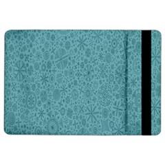 White Noise Snow Blue iPad Air 2 Flip
