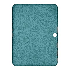 White Noise Snow Blue Samsung Galaxy Tab 4 (10.1 ) Hardshell Case