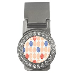 Wheel Circle Red Blue Money Clips (CZ)