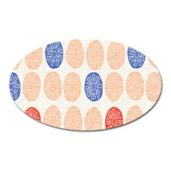 Wheel Circle Red Blue Oval Magnet