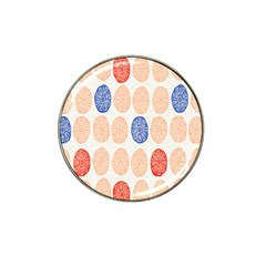 Wheel Circle Red Blue Hat Clip Ball Marker (4 pack)