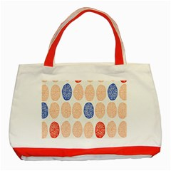 Wheel Circle Red Blue Classic Tote Bag (Red)