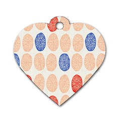 Wheel Circle Red Blue Dog Tag Heart (One Side)