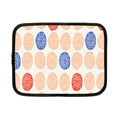 Wheel Circle Red Blue Netbook Case (small)