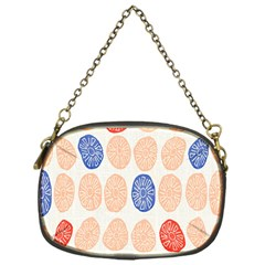 Wheel Circle Red Blue Chain Purses (One Side)