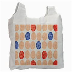 Wheel Circle Red Blue Recycle Bag (One Side)