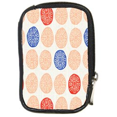 Wheel Circle Red Blue Compact Camera Cases